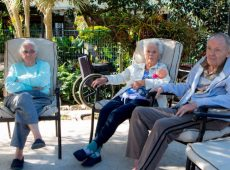Enjoying the outdoors at Frail Care